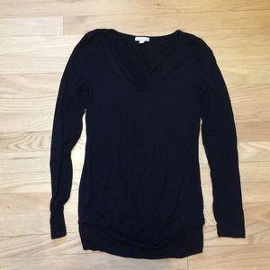 GAP maternity black long sleeve shirt